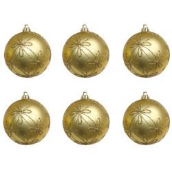 Bolas Decoradas Oro BL/6 GUIRMA