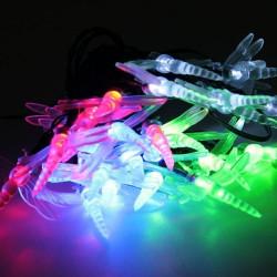 Guirnaldas Solares Libelulas 20 LED
