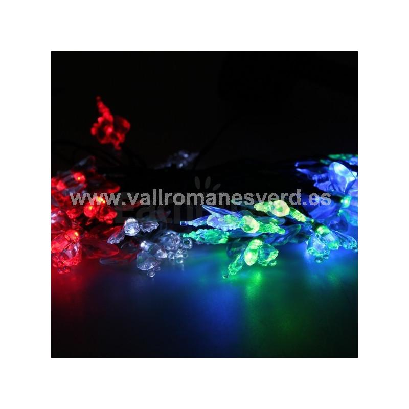 Guirnaldas solares rosas 10 led vallromanes verd s l for Pqs piscinas y consumo