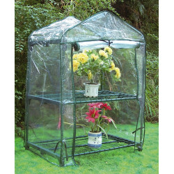 Invernadero PVC 2 Estantes 90x68x49 cm