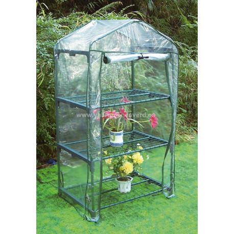 Invernadero PVC 3 Estantes 125x68x49 cm
