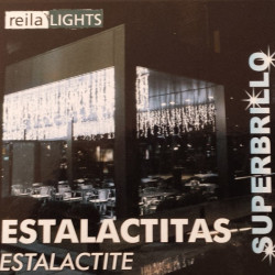 Estalactita LED Color Blanco Intermitente REILA