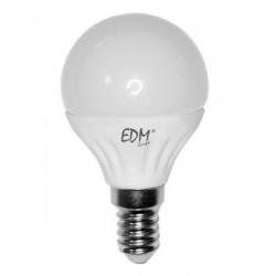 Bombilla Esferica LED 5W E14 6.400K Luz Fría