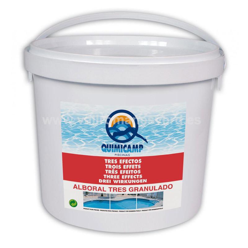 Alboral tres efectos granulado 5 kg vallromanes verd s l for Pqs piscinas y consumo