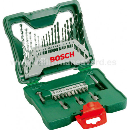 Maletin Brocas Bosch X-Line de 33 Piezas