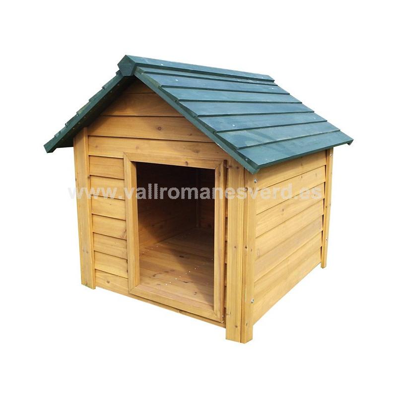 Caseta perro madera perdiguero vallromanes verd s l for Caseta jardin carrefour